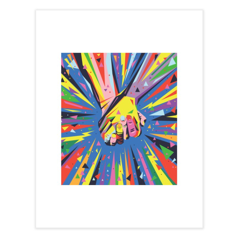 Band Together - Pride Home Fine Art Print by mrrtist21's Artist Shop