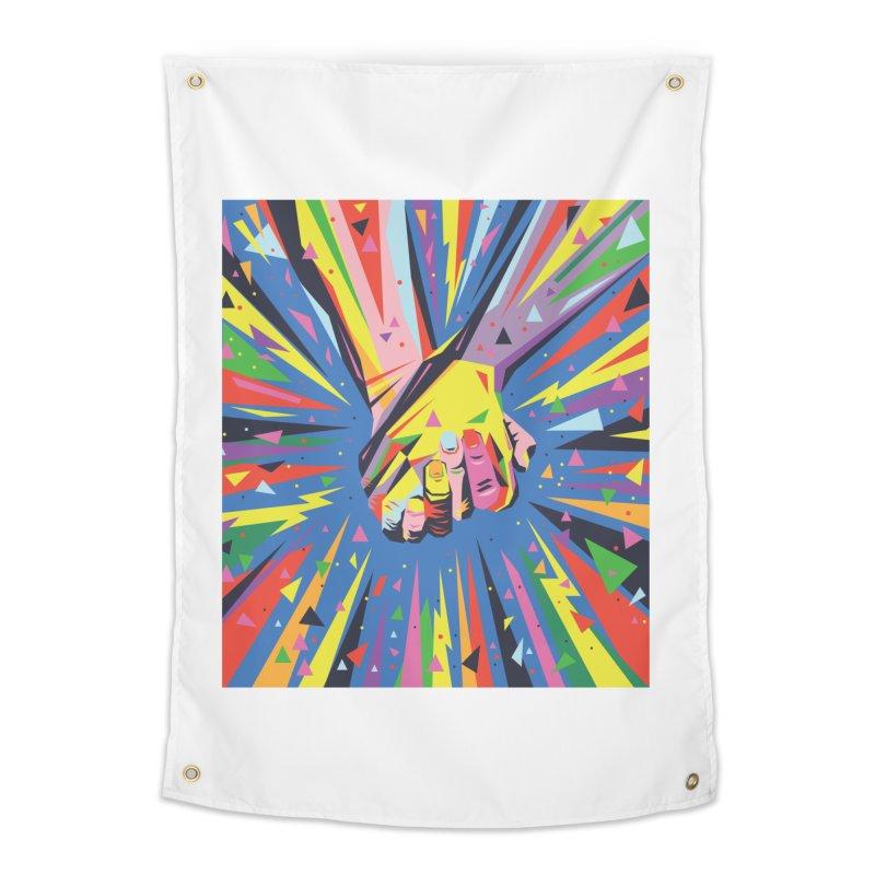 Band Together - Pride Home Tapestry by mrrtist21's Artist Shop
