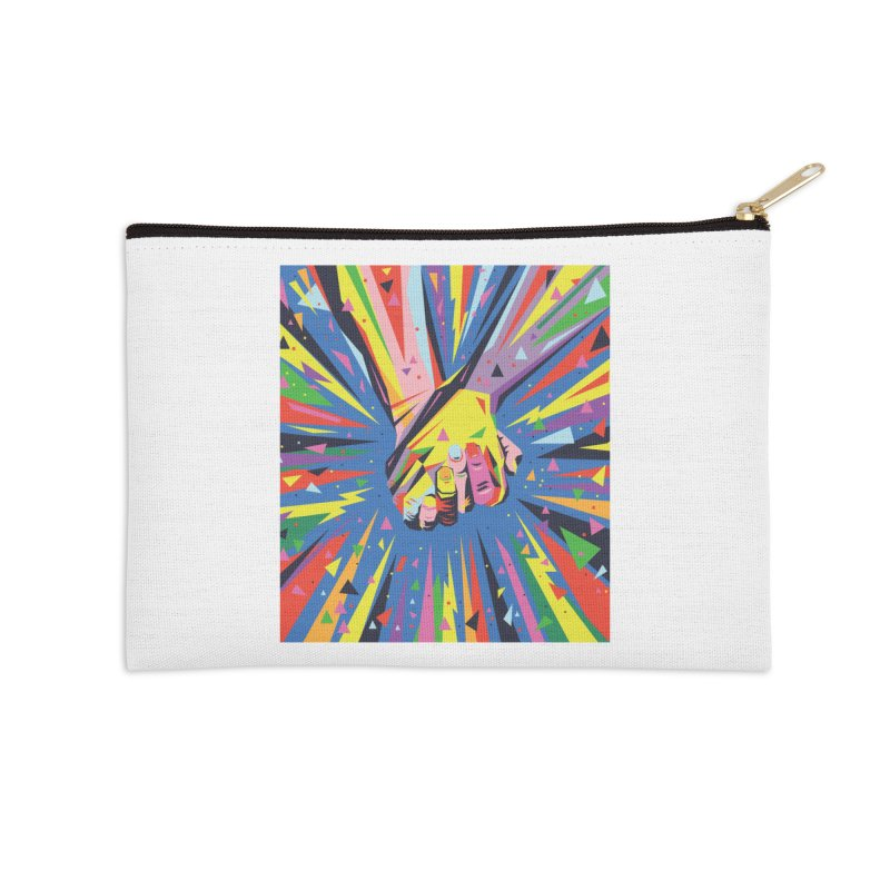 Band Together - Pride Accessories Zip Pouch by mrrtist21's Artist Shop