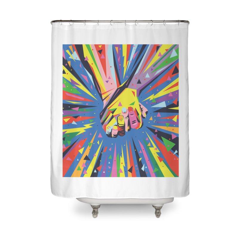 Band Together - Pride Home Shower Curtain by mrrtist21's Artist Shop