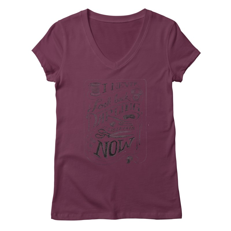 Edna Motto Women's V-Neck by mrrtist21's Artist Shop