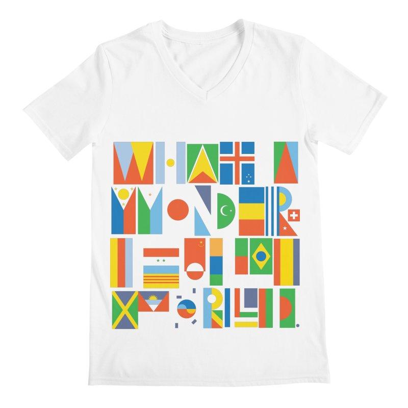 What a Wonderful World II Men's V-Neck by mrrtist21's Artist Shop