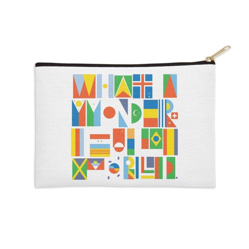 What a Wonderful World II Accessories Zip Pouch by mrrtist21's Artist Shop