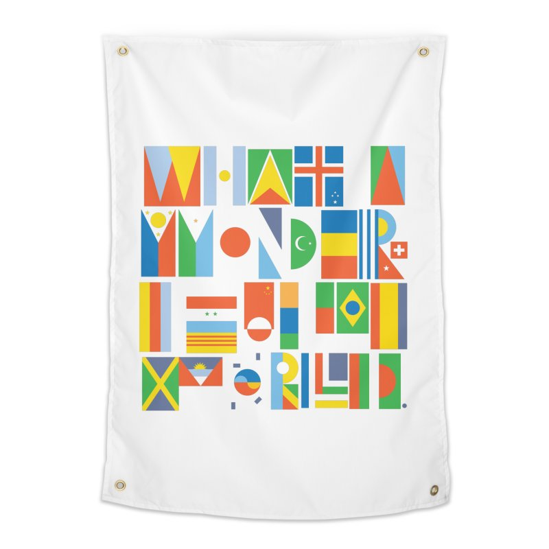 What a Wonderful World II Home Tapestry by mrrtist21's Artist Shop