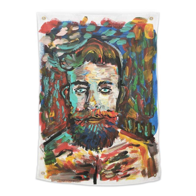Sam con La Barba Home Tapestry by mrrtist21's Artist Shop