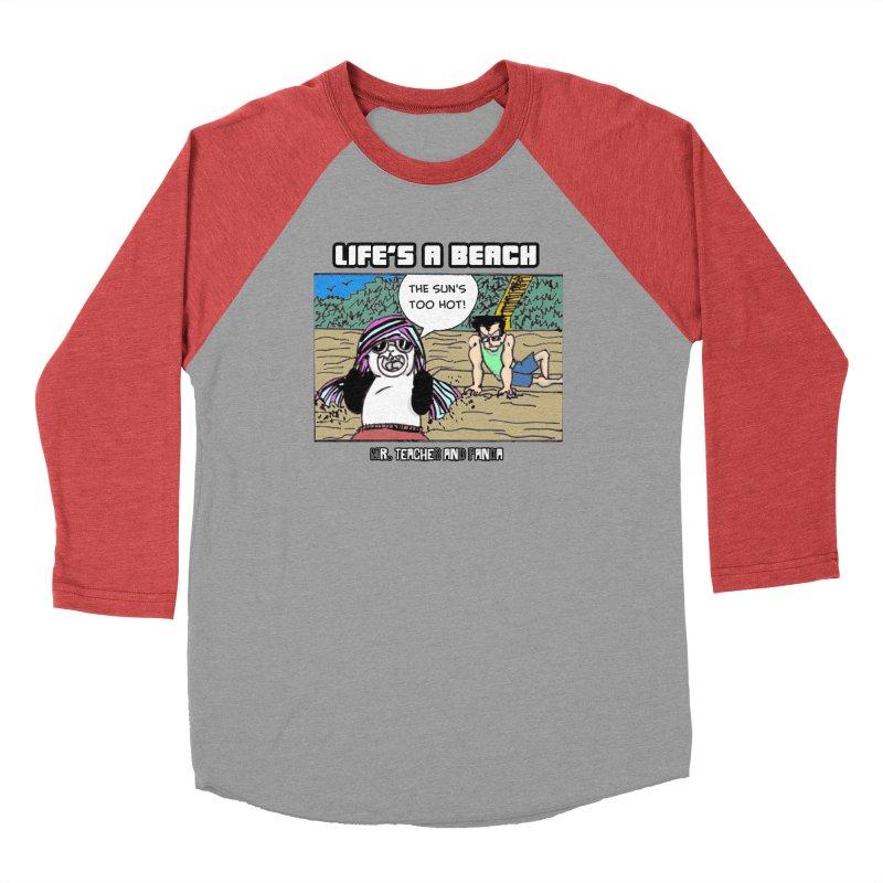 The Sun's Too Hot Men's Baseball Triblend Longsleeve T-Shirt by Mr. Teacher and Panda Merchandise