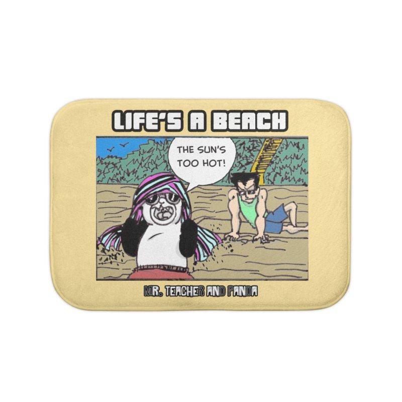 The Sun's Too Hot Home Bath Mat by Mr. Teacher and Panda Merchandise
