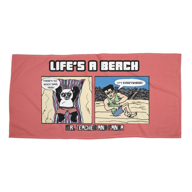 There's Sand Everywhere! Accessories Beach Towel by Mr. Teacher and Panda Merchandise