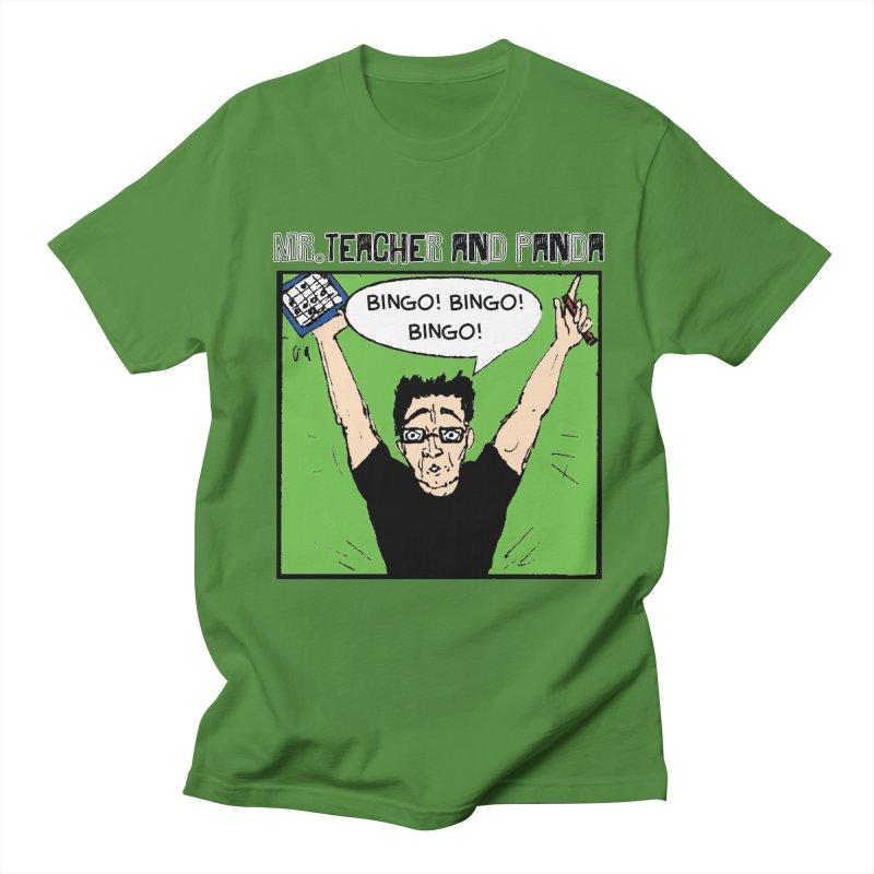 Bingo! Bingo! Bingo! Men's T-Shirt by Mr. Teacher and Panda Merchandise