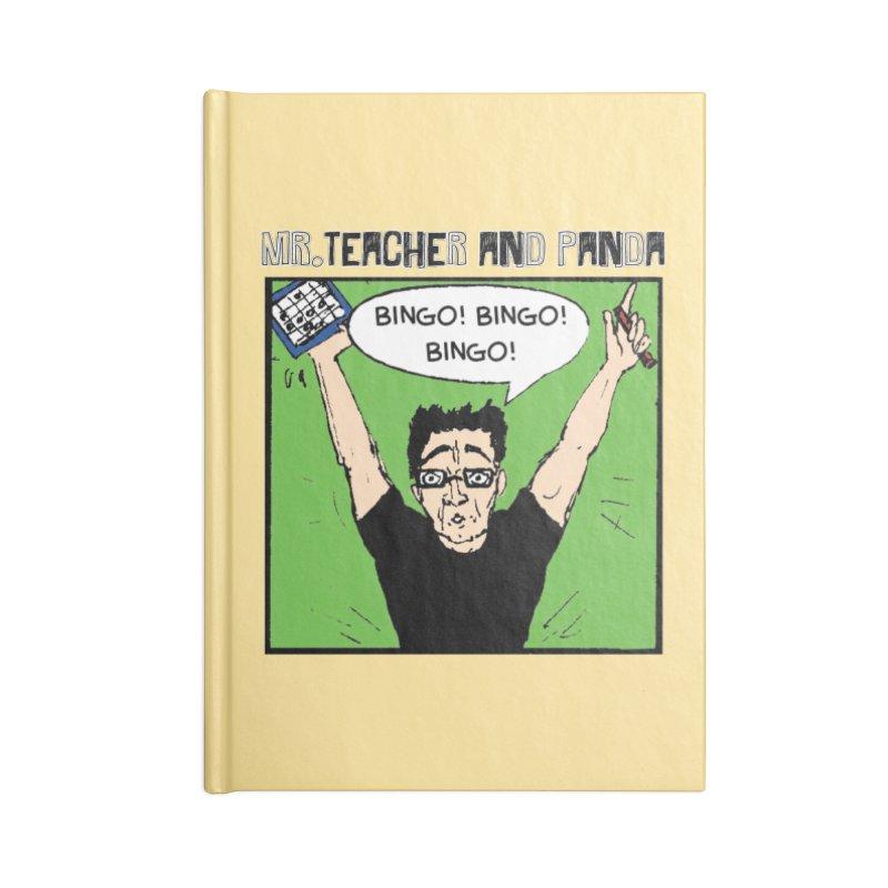 Bingo! Bingo! Bingo! Accessories Notebook by Mr. Teacher and Panda Merchandise
