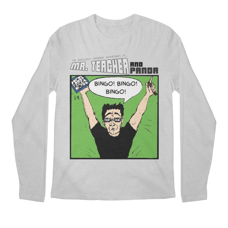 Bingo! Bingo! Bingo! Men's Regular Longsleeve T-Shirt by Mr. Teacher and Panda Merchandise