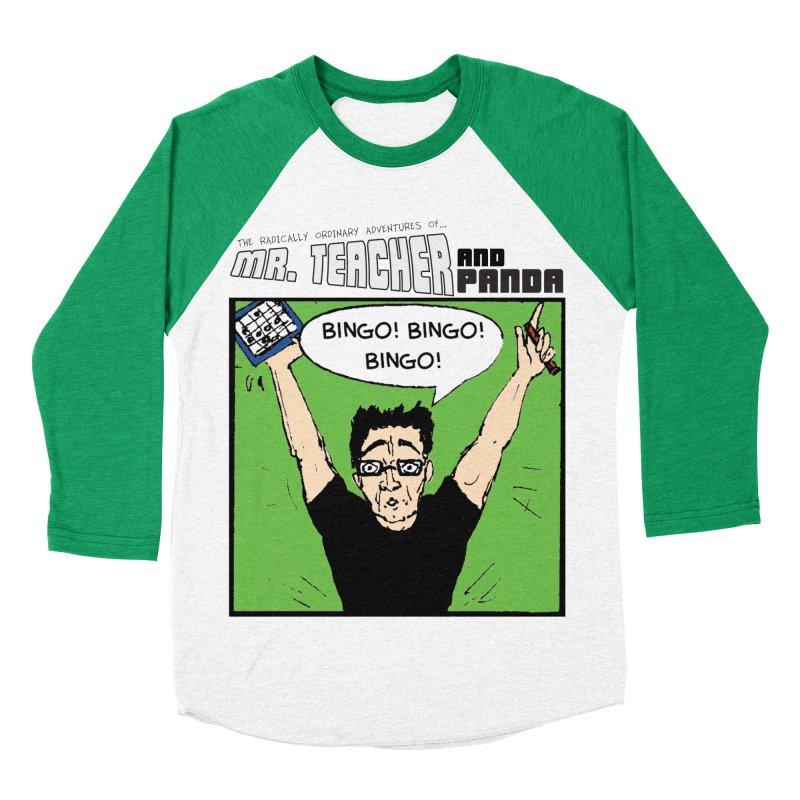 Bingo! Bingo! Bingo! Men's Baseball Triblend Longsleeve T-Shirt by Mr. Teacher and Panda Merchandise