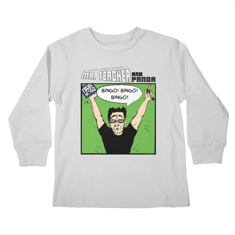 Bingo! Bingo! Bingo! Kids Longsleeve T-Shirt by Mr. Teacher and Panda Merchandise