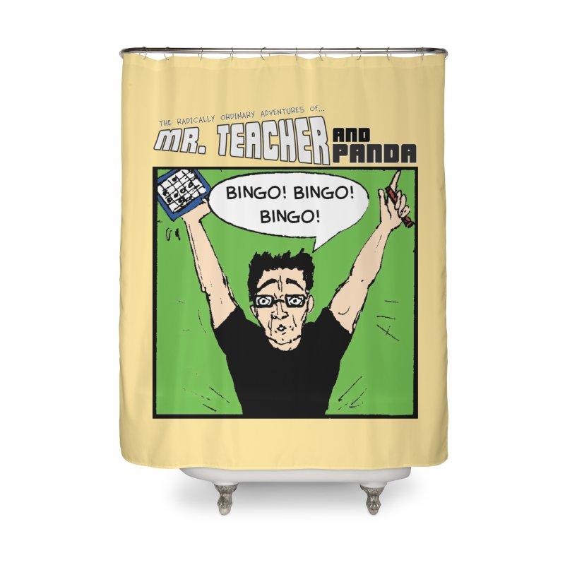 Bingo! Bingo! Bingo! Home Shower Curtain by Mr. Teacher and Panda Merchandise