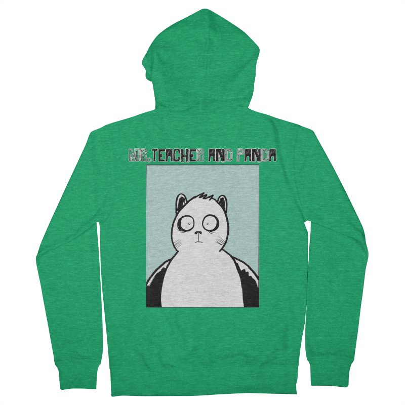 Panda Panda Panda Men's Zip-Up Hoody by Mr. Teacher and Panda Merchandise