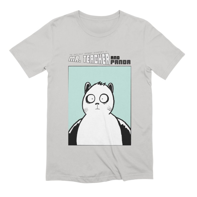 Panda Panda Panda Men's Extra Soft T-Shirt by Mr. Teacher and Panda Merchandise
