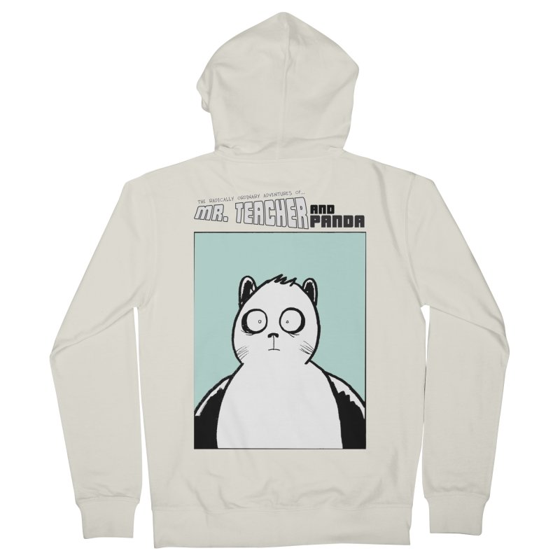 Panda Panda Panda Men's French Terry Zip-Up Hoody by Mr. Teacher and Panda Merchandise