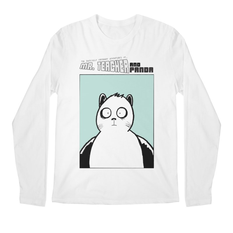 Panda Panda Panda Men's Regular Longsleeve T-Shirt by Mr. Teacher and Panda Merchandise