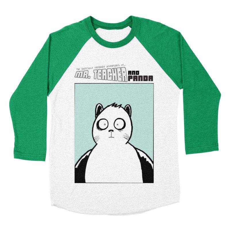 Panda Panda Panda Men's Baseball Triblend Longsleeve T-Shirt by Mr. Teacher and Panda Merchandise