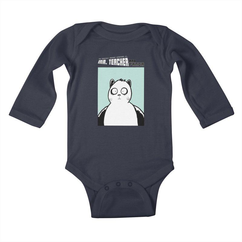 Panda Panda Panda Kids Baby Longsleeve Bodysuit by Mr. Teacher and Panda Merchandise