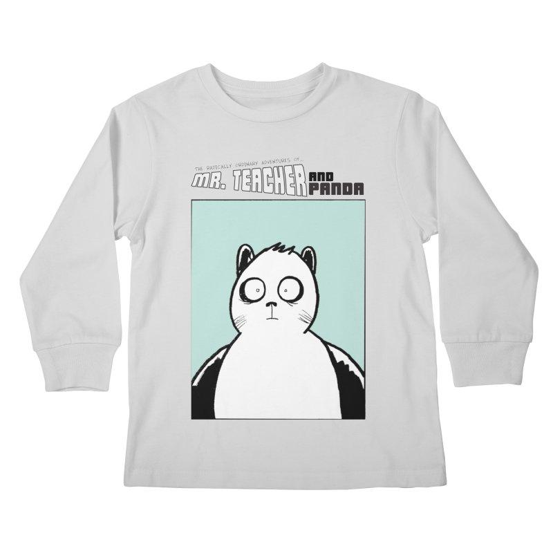 Panda Panda Panda Kids Longsleeve T-Shirt by Mr. Teacher and Panda Merchandise