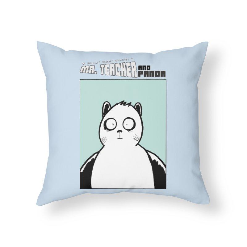 Panda Panda Panda Home Throw Pillow by Mr. Teacher and Panda Merchandise