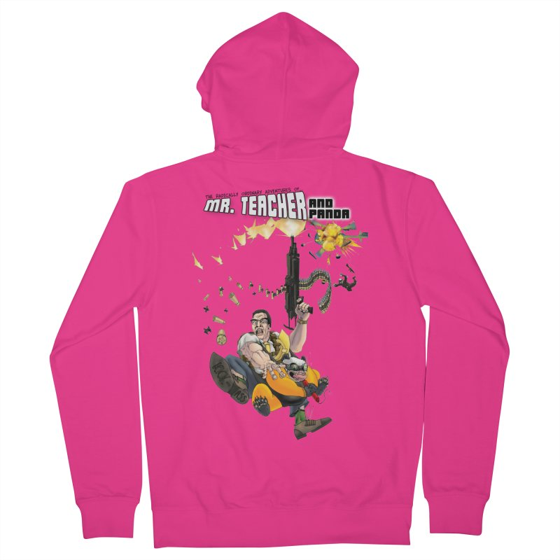Mr. Teacher and Panda Men's Zip-Up Hoody by Mr. Teacher and Panda Merchandise