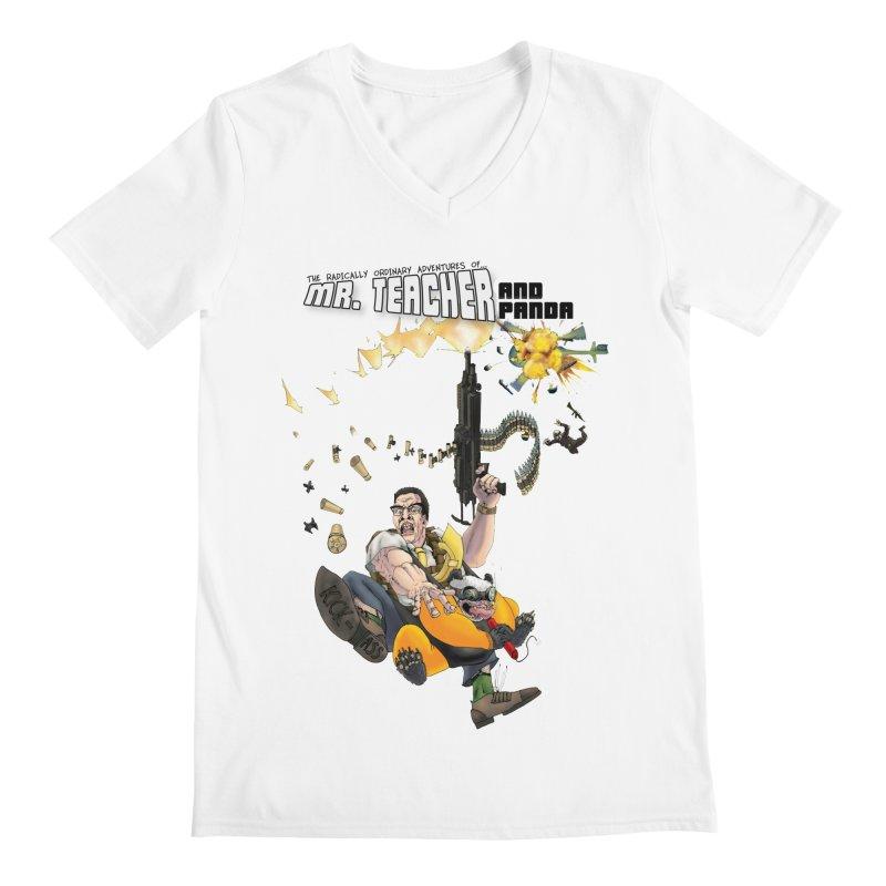 Mr. Teacher and Panda Men's V-Neck by Mr. Teacher and Panda Merchandise