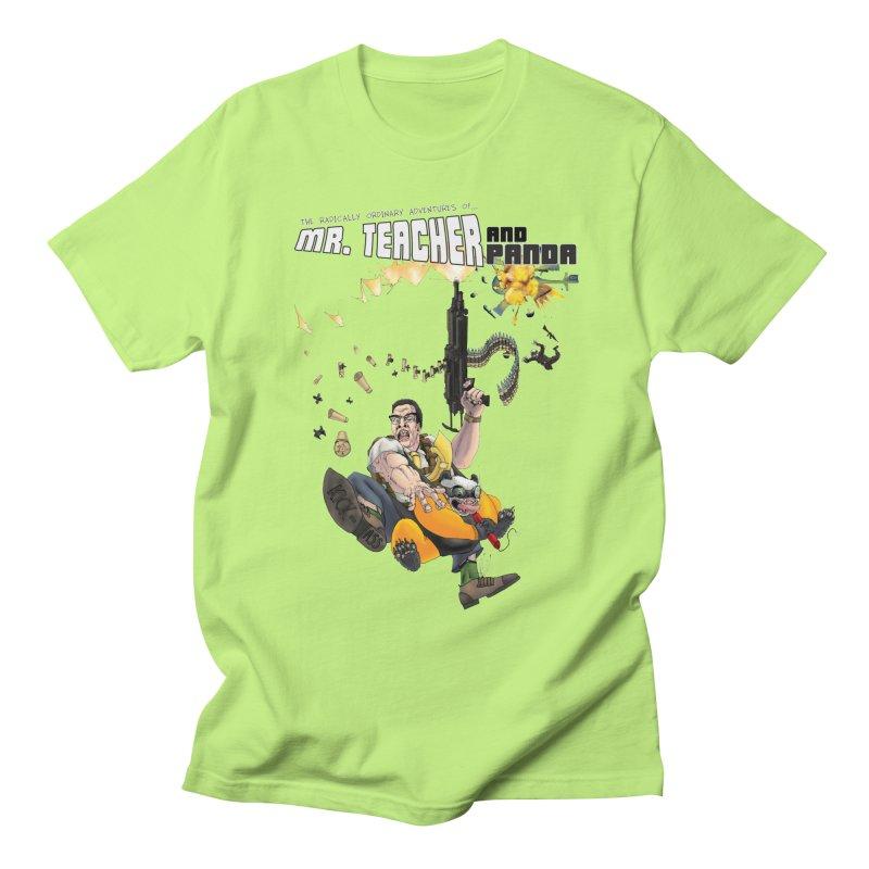 Mr. Teacher and Panda Men's Regular T-Shirt by Mr. Teacher and Panda Merchandise