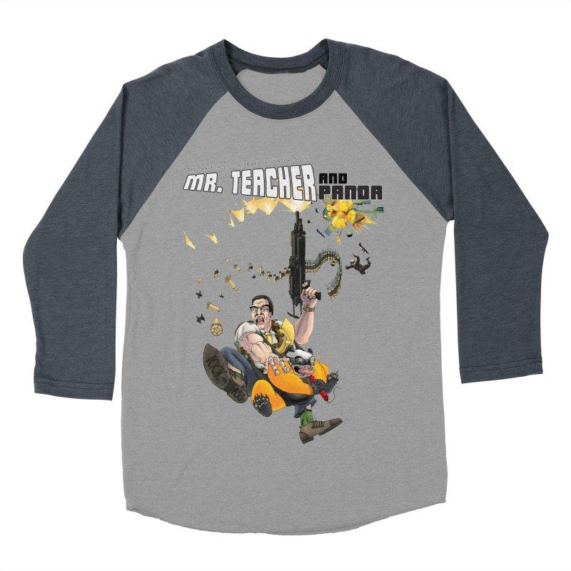 Mr. Teacher and Panda Men's Baseball Triblend Longsleeve T-Shirt by Mr. Teacher and Panda Merchandise