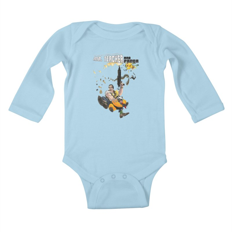 Mr. Teacher and Panda Kids Baby Longsleeve Bodysuit by Mr. Teacher and Panda Merchandise