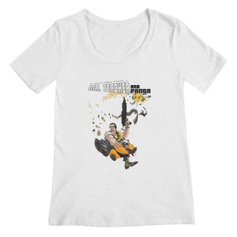 Mr. Teacher and Panda Women's Regular Scoop Neck by Mr. Teacher and Panda Merchandise