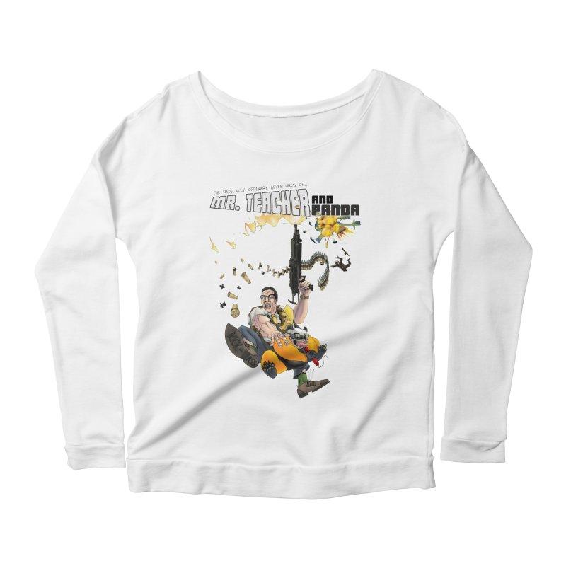Mr. Teacher and Panda Women's Scoop Neck Longsleeve T-Shirt by Mr. Teacher and Panda Merchandise