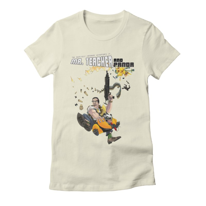 Mr. Teacher and Panda Women's Fitted T-Shirt by Mr. Teacher and Panda Merchandise