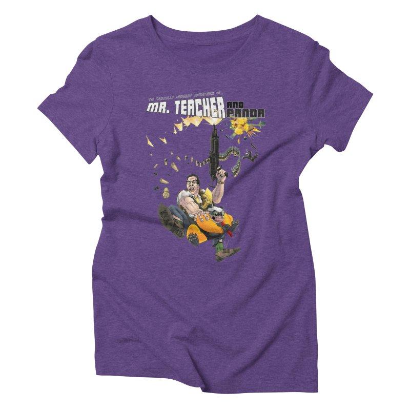 Mr. Teacher and Panda Women's Triblend T-Shirt by Mr. Teacher and Panda Merchandise