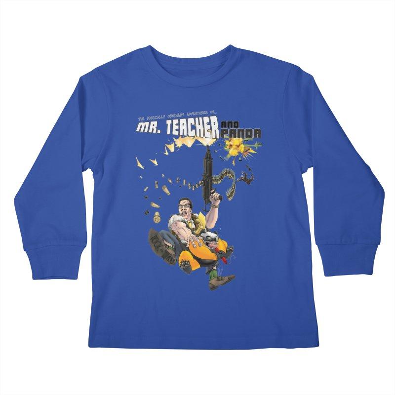 Mr. Teacher and Panda Kids Longsleeve T-Shirt by Mr. Teacher and Panda Merchandise