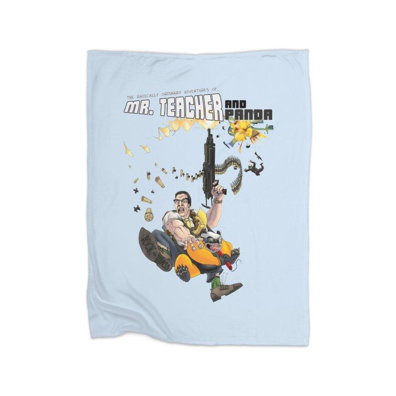 Mr. Teacher and Panda Home Fleece Blanket Blanket by Mr. Teacher and Panda Merchandise
