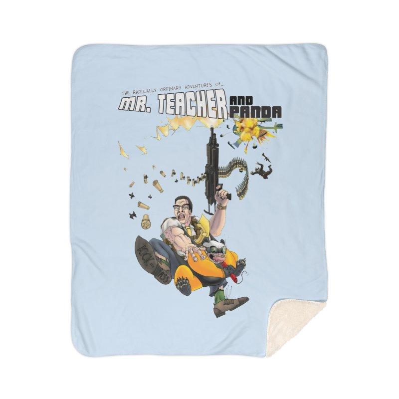 Mr. Teacher and Panda Home Sherpa Blanket Blanket by Mr. Teacher and Panda Merchandise
