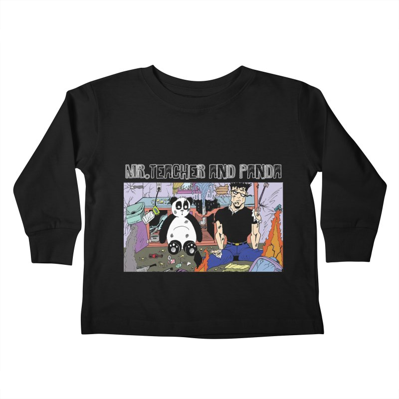 Garbage Disposal Kids Toddler Longsleeve T-Shirt by Mr. Teacher and Panda Merchandise