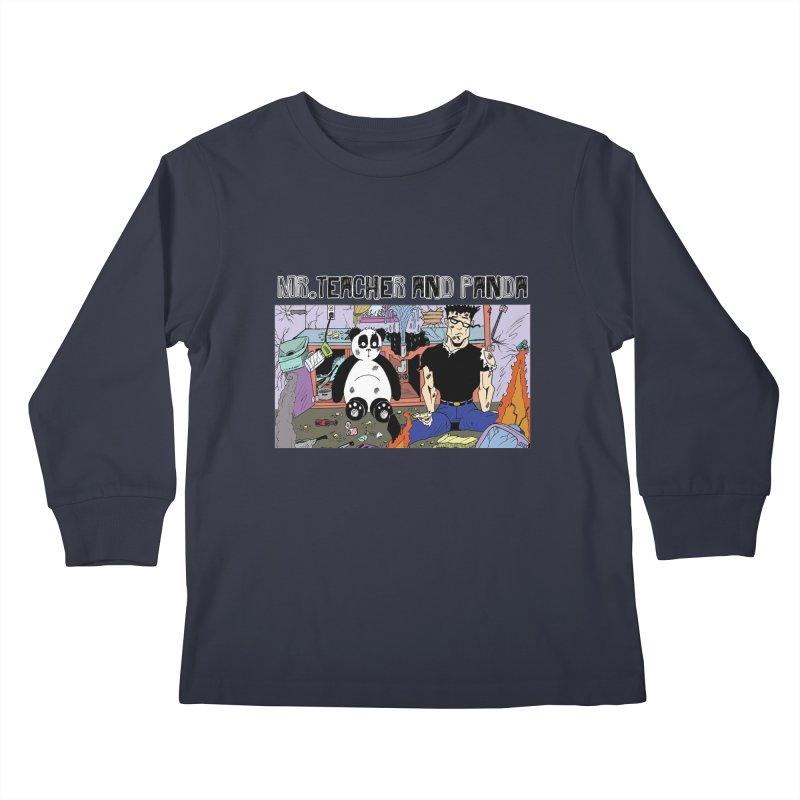 Garbage Disposal Kids Longsleeve T-Shirt by Mr. Teacher and Panda Merchandise