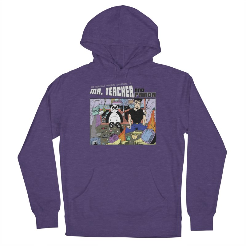 Garbage Disposal Women's French Terry Pullover Hoody by Mr. Teacher and Panda Merchandise