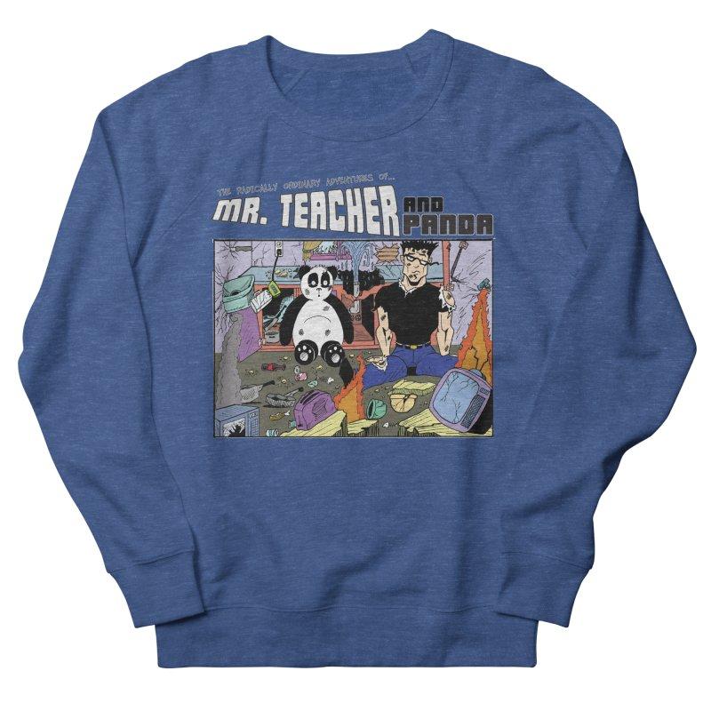 Garbage Disposal Women's French Terry Sweatshirt by Mr. Teacher and Panda Merchandise