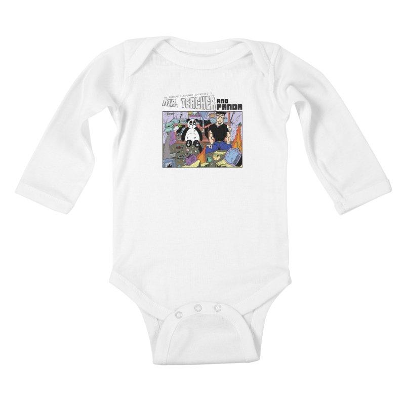 Garbage Disposal Kids Baby Longsleeve Bodysuit by Mr. Teacher and Panda Merchandise