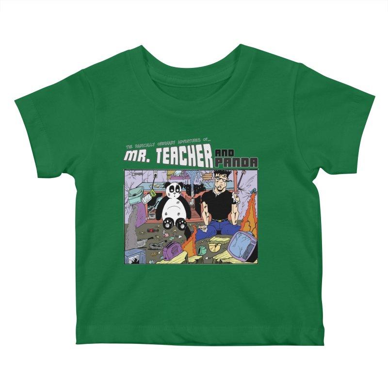Garbage Disposal Kids Baby T-Shirt by Mr. Teacher and Panda Merchandise