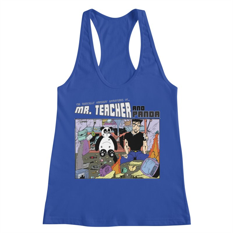 Garbage Disposal Women's Racerback Tank by Mr. Teacher and Panda Merchandise