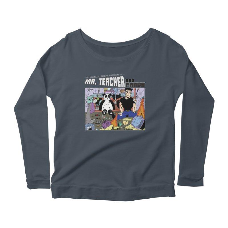 Garbage Disposal Women's Scoop Neck Longsleeve T-Shirt by Mr. Teacher and Panda Merchandise