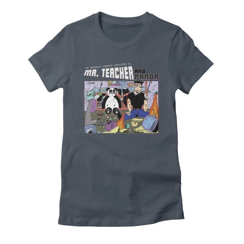 Garbage Disposal Women's Fitted T-Shirt by Mr. Teacher and Panda Merchandise