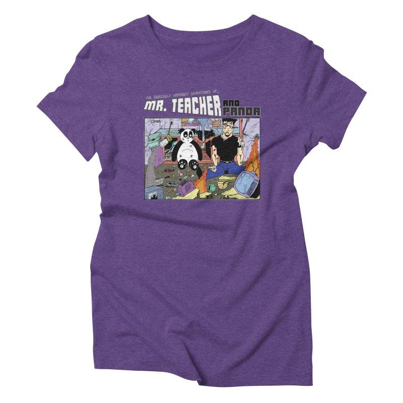 Garbage Disposal Women's Triblend T-Shirt by Mr. Teacher and Panda Merchandise