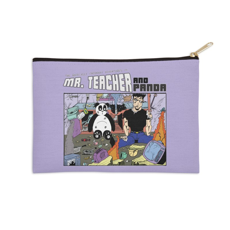 Garbage Disposal Accessories Zip Pouch by Mr. Teacher and Panda Merchandise