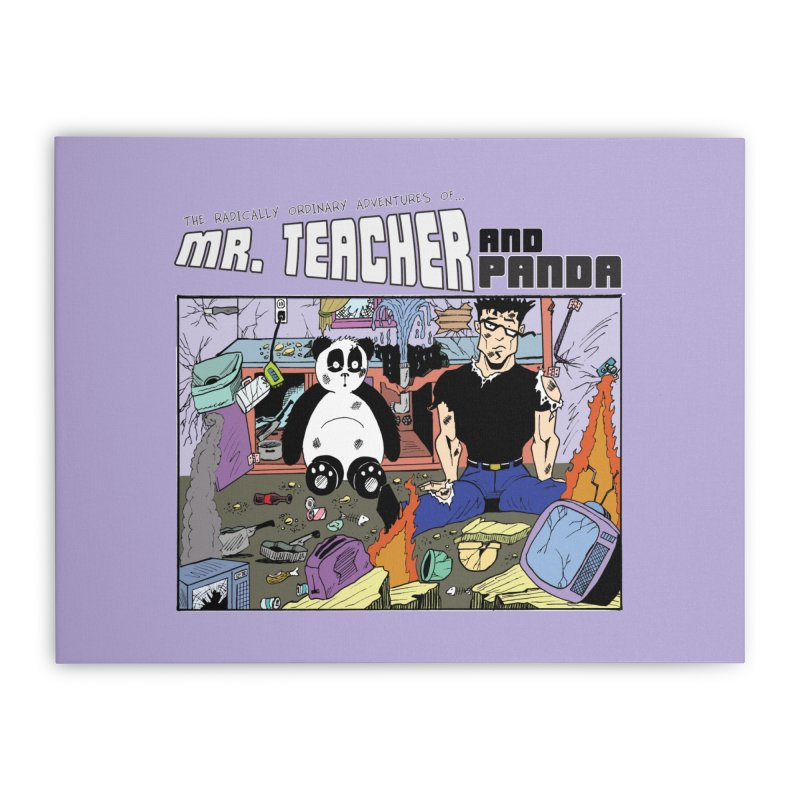 Garbage Disposal Home Stretched Canvas by Mr. Teacher and Panda Merchandise